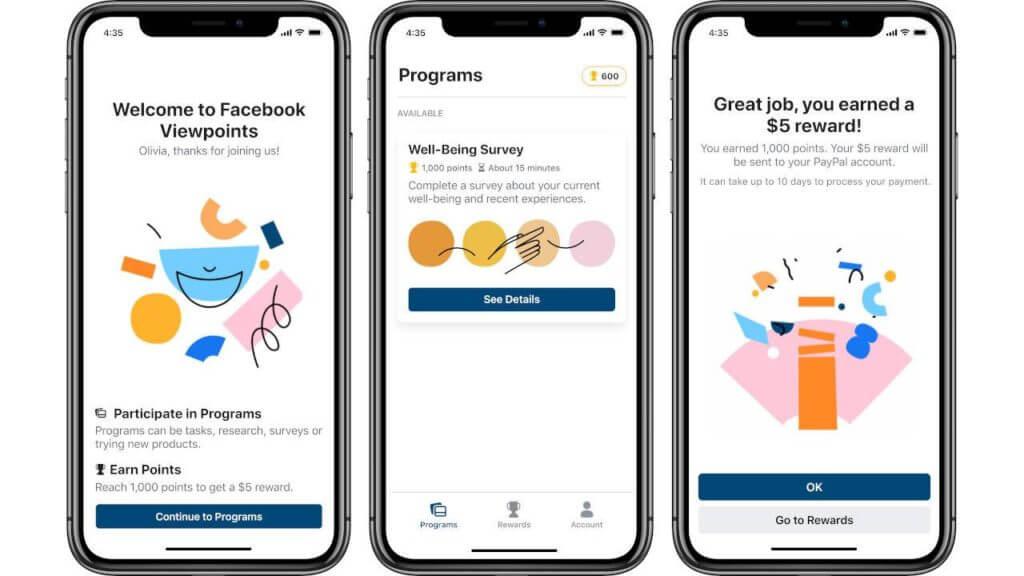 Компанія Facebook дасть можливість заробити гроші через додаток Viewpoints