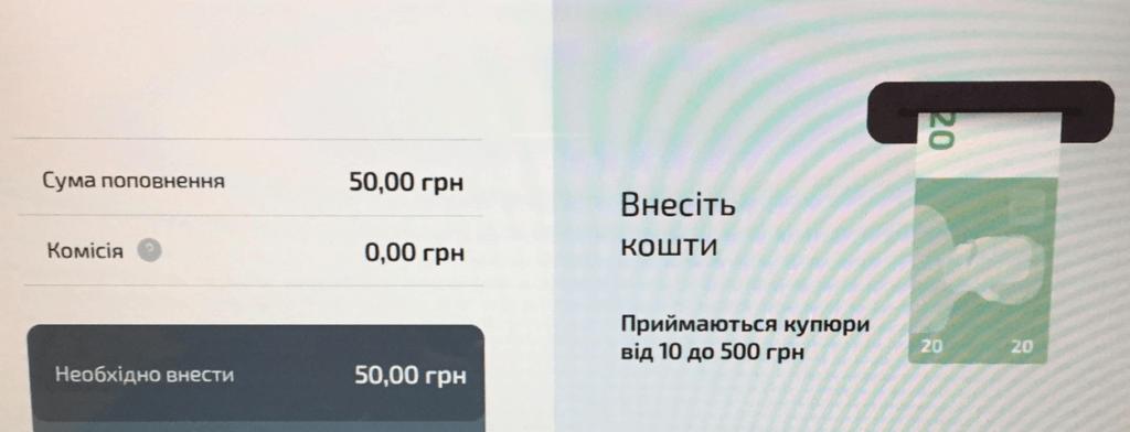 Оплата кредиту від Манівео через термінал