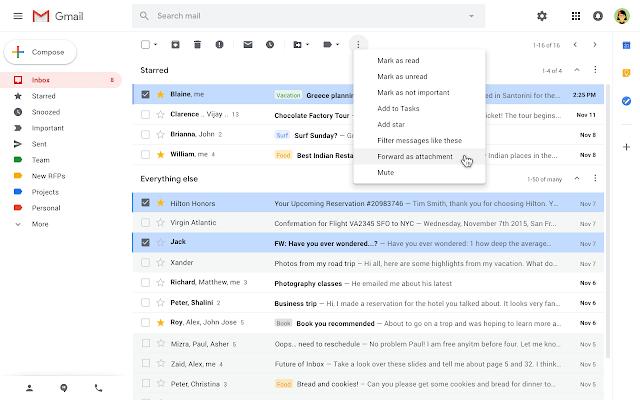 Як можна прикріпити листи Gmail