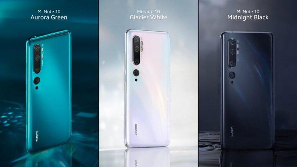 Дизайн та особливості Xiaomi Mi Note 10
