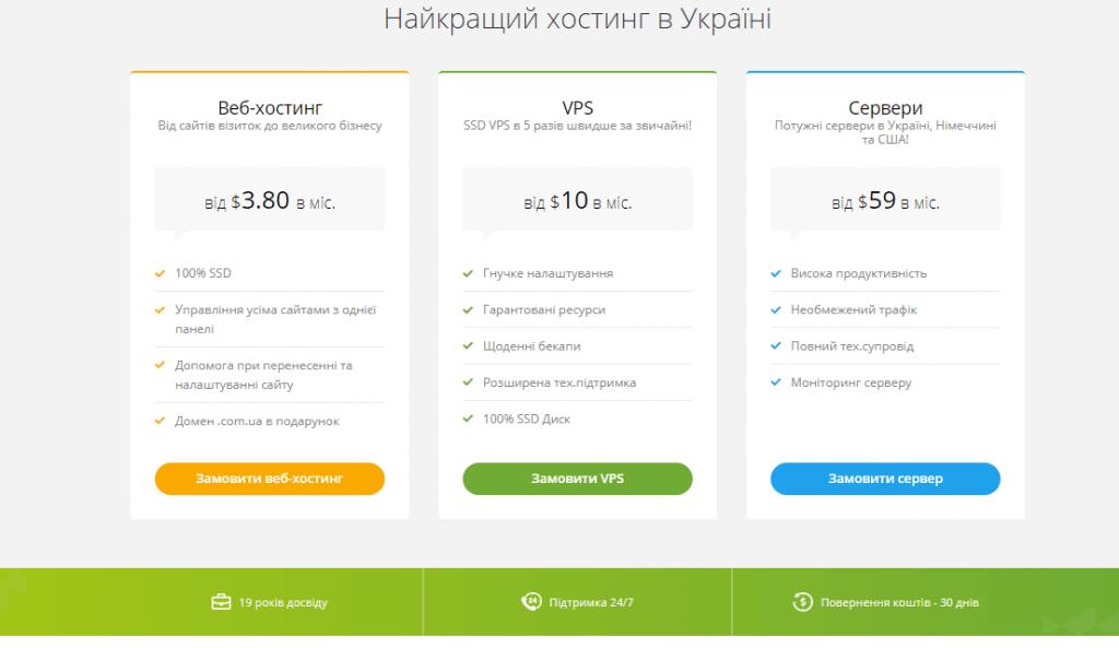 як вибрати хороший хостинг для сайту від https://hostpro.ua