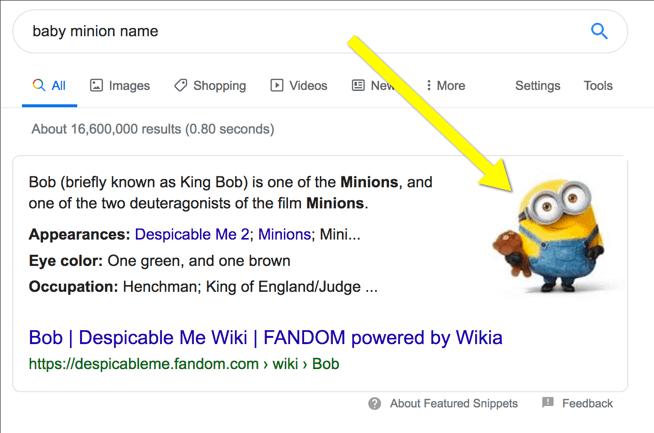 швидкі результати пошуку із використання картинки