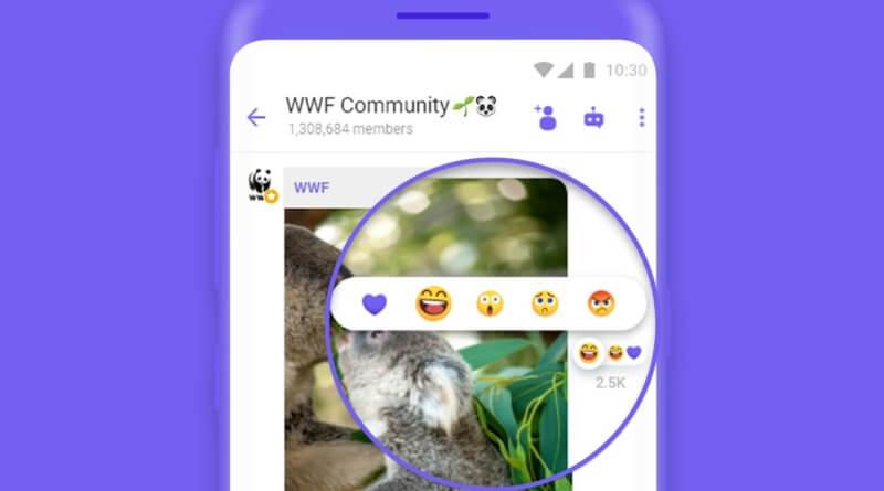 Месенджер Viber дозволить користувачам «Реагувати на повідомлення» у спільнотах