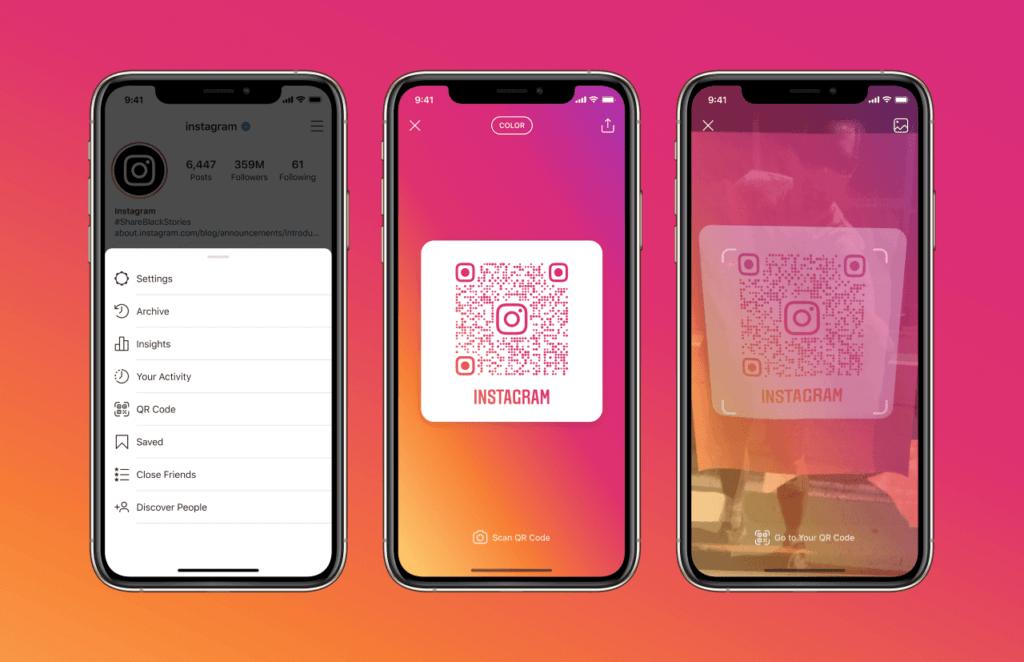 Instagram та оновлення для користувачів, QR-коди