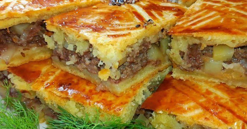 Картопляний пиріг з фаршем як приготувати самостійно