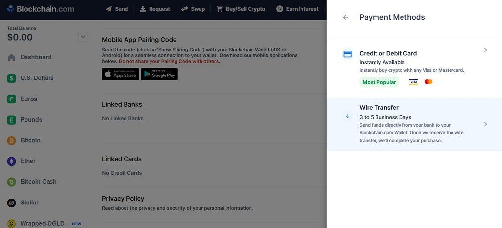 Як купувати біткоїн через сайт blockchain.com підтвердження карти для оплати